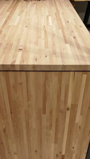 Encimera de madera de nogal